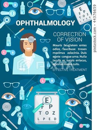 Ophthalmology vision correction clinic, vector 44376659