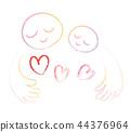 關懷的父母和孩子的心 44376964