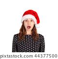 girl portrait santa 44377500
