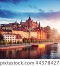 Old Stockholm view at night in summer 44378427
