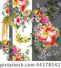ดอกไม้,แบบ,ใบไม้ 44378542