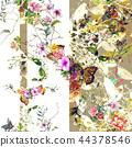 ดอกไม้,แบบ,ใบไม้ 44378546