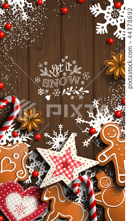 Mobile phone Christmas wallpaper, gingerbread and 44378692