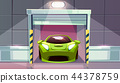 Car garage vector parking lot roller shutters 44378759