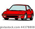 懷鄉國內小轎車紅色汽車例證 44378808