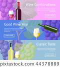Wine Combinations and Classic Taste Promo banners 44378889