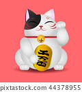 Japanese beckoning cat, Maneki Neko 44378955