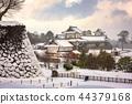 Kanazawa, Japan Castle in Winter 44379168