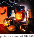 Halloween decor interior in the dark 44382249
