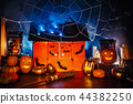 Halloween decor interior in the dark 44382250
