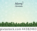 Christmas background decoration with trees. 44382463
