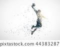 basketball silhouette 1 44383287