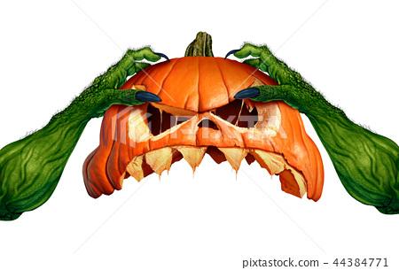 Creepy Monster Halloween Pumpkin 44384771