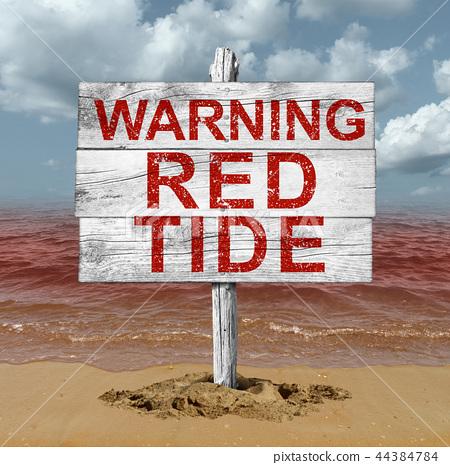 Red Tide Beach Warning 44384784