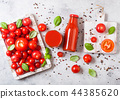 Bottle of fresh organic tomato juice with tomato 44385620