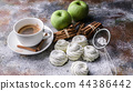 Food banner. Marshmallow with apple and cinnamon 44386442