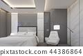 Luxury suite room at hotel , 3d rendering 44386864