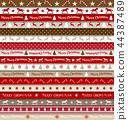 christmas, ribbon, pattern 44387489