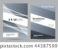 Brochure template layout design. Abstract gray and white striped background. 44387599