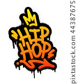 Hip Hop Tag Graffiti Style Label Lettering. Vector Illustration 44387675