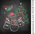 sale, snowman, christmas 44387938