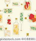 Decorative kitchen bottles seamless pattern 44388981