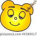 熊 黄色 睡相 44389417