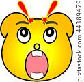 熊 黄色 惊讶 44389479