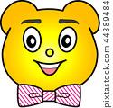 熊 黄色 领带 44389484