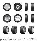Tires Wheels Realistic Set 44389915