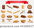 Wood Material Products Set  44389937