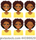 African American Woman Expressions 44390020