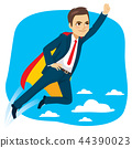 Super Business Man Hero Flying 44390023