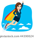 Super Business Woman Flying 44390024