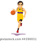 basketball player ball 44390031