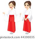 Japanese Miko Priestess Woman 44390035