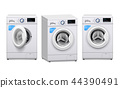 Washing Machine Realistic Set 44390491