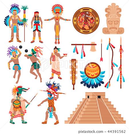 Maya Culture Elements Set 44391562