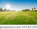 Golf Course with blue sky. 44392100