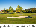 Golf Course with blue sky. 44392102