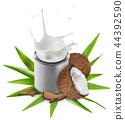 milk coconut coco 44392590