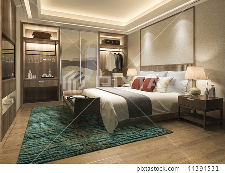modern bedroom suite tv with wardrobe  44394531