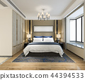 beautiful luxury bedroom suite in hotel with tv 44394533