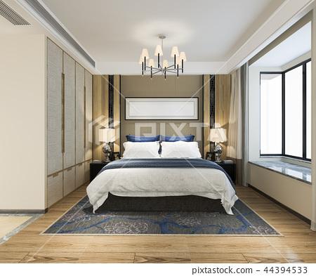 beautiful luxury bedroom suite in hotel with tv 44394533