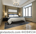 beautiful luxury bedroom suite in hotel with tv 44394534