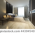 modern bedroom suite tv with wardrobe  44394540