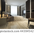 modern bedroom suite tv with wardrobe  44394542