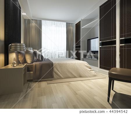 modern bedroom suite tv with wardrobe  44394542