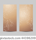 Set of vertical banners. Geometric pattern with connected lines and dots 44396209