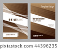 Brochure template layout design. Abstract brown and white striped background. 44396235